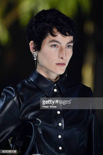 Heather Kemesky walks the runway during the Louis Vuitton show as part of the Paris Fashion Week Womenswear Fall/Winter 2018/2019 on March 6 2018 in...