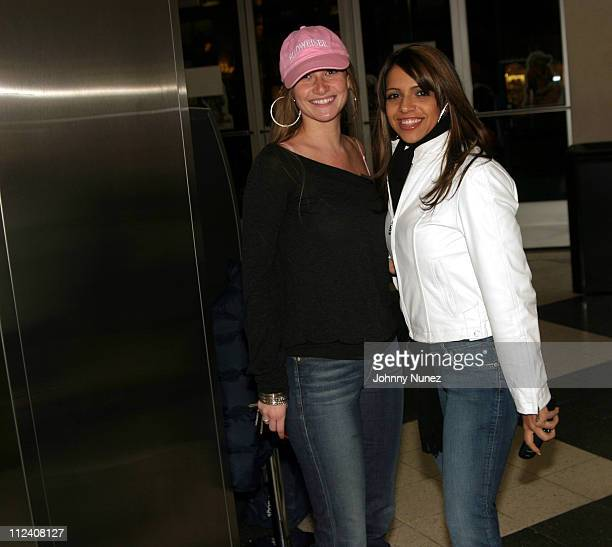 """Heather Kernes of Anheuser Busch and Vida Guerra during Bud Light Presents """"Meet The Fockers"""" New York City Premiere at Loews Movie Theater 3rd..."""