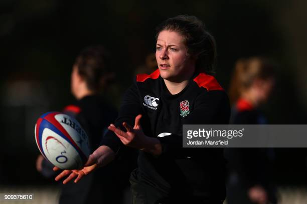 Heather Kerr of England in action during England Women's Training at Bisham Abbey on January 23 2018 in Marlow England
