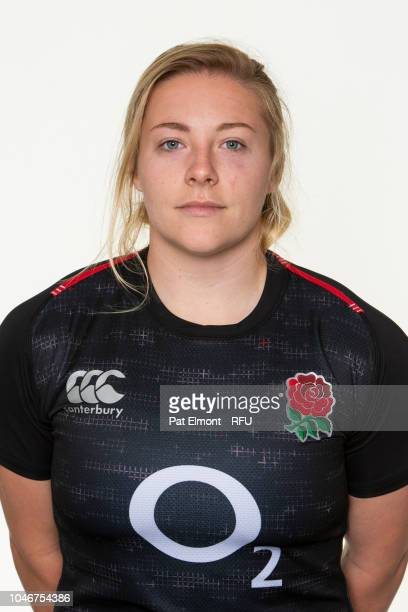 Heather Kerr of England poses for a portrait during the England Women's Squad photo call at Loughborough University on October 6 2018 in Loughborough...