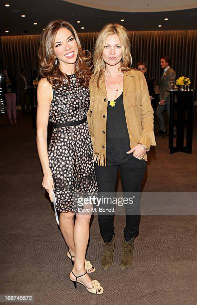 Heather Kerzner and Kate Moss attend the launch of Samsung's NX Smart Camera at a charity auction with David Bailey in aid of Marie Curie Cancer Care...