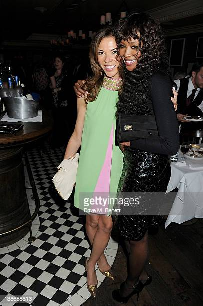 Heather Kerzner and Naomi Campbell attend The Weinstein Company Dinner Hosted By Grey Goose in celebration of BAFTA at Dean Street Townhouse on...