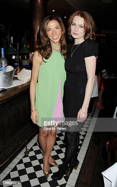 Heather Kerzner and Rosalind Halstead attend The Weinstein Company Dinner Hosted By Grey Goose in celebration of BAFTA at Dean Street Townhouse on...