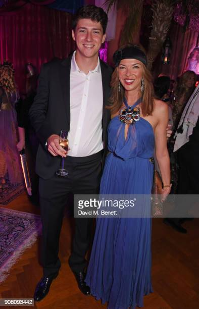 Heather Kerzner and son Charlie Murphy attend Lisa Tchenguiz's birthday party on January 20 2018 in London England