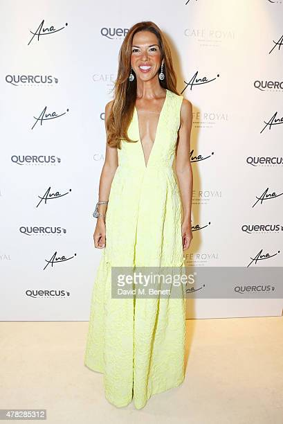 Heather Kerzner arrives at the Quercus Foundation PreWimbledon Cocktails with Ana Ivanovic in the Ten Room at Hotel Cafe Royal on June 24 2015 in...
