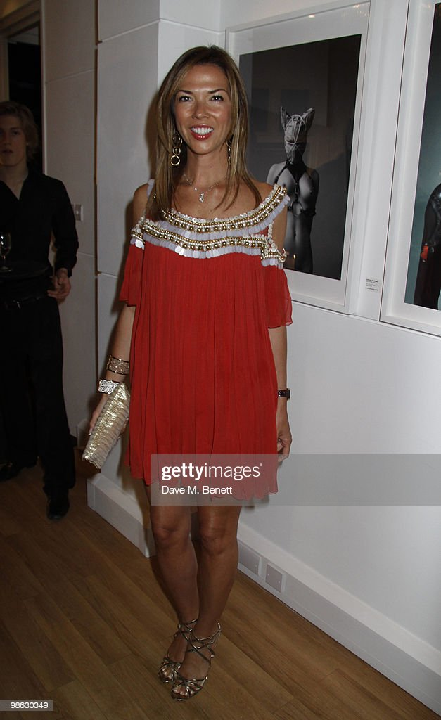 Heather kerzner attends a viewing of photographs and art featuring work by Irish photographer Bob Carlos Clarke at the 'Little Black Gallery' London, on April 22, 2010. London England.