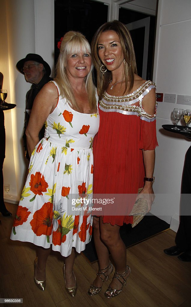 Heather kerzner (in Red) attends a viewing of photographs and art featuring work by Irish photographer Bob Carlos Clarke at the 'Little Black Gallery' London, on April 22, 2010. London England.