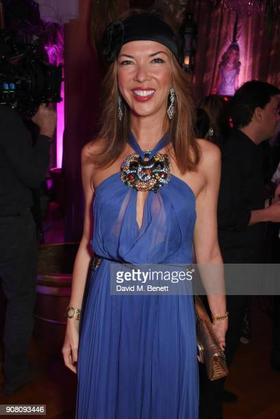 Heather Kerzner attends Lisa Tchenguiz's birthday party on January 20 2018 in London England