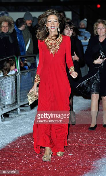 Heather Kerzner attends The Dickensian Ball at Harrods on December 1 2010 in London England