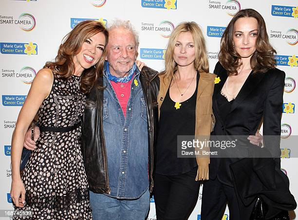 Heather Kerzner David Bailey Kate Moss and Catherine Bailey attend the launch of Samsung's NX Smart Camera at a charity auction with David Bailey in...