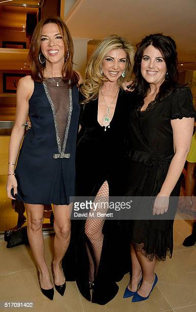 Heather Kerzner Lisa Tchenguiz and Monica Lewinsky attend a special Charity Premiere of 'Despite The Falling Snow' in aid of the Nelson Mandela...