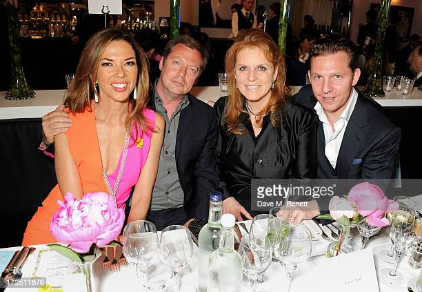 Heather Kerzner Matthew Freud Sarah Ferguson Duchess of York and Nick Candy attend The Masterpiece Midsummer Party in aid of Marie Curie Cancer Care...