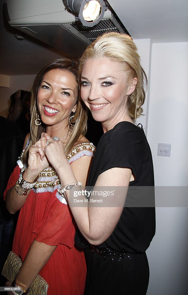 Heather Kerzner, Tamara Beckwith attend a viewing of photographs and art featuring work by Irish photographer Bob Carlos Clarke at the 'Little Black Gallery' London, on April 22, 2010. London England.