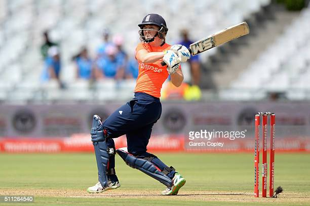 Heather Knight of England bats during the 2nd T20 International match between South Africa Women and England Women at Newlands on February 19 2016 in...