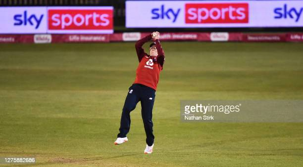 Heather Knight of England catches Hayley Matthews of West Indies out during the 2nd Vitality IT20 match between England Women and West Indies Women...