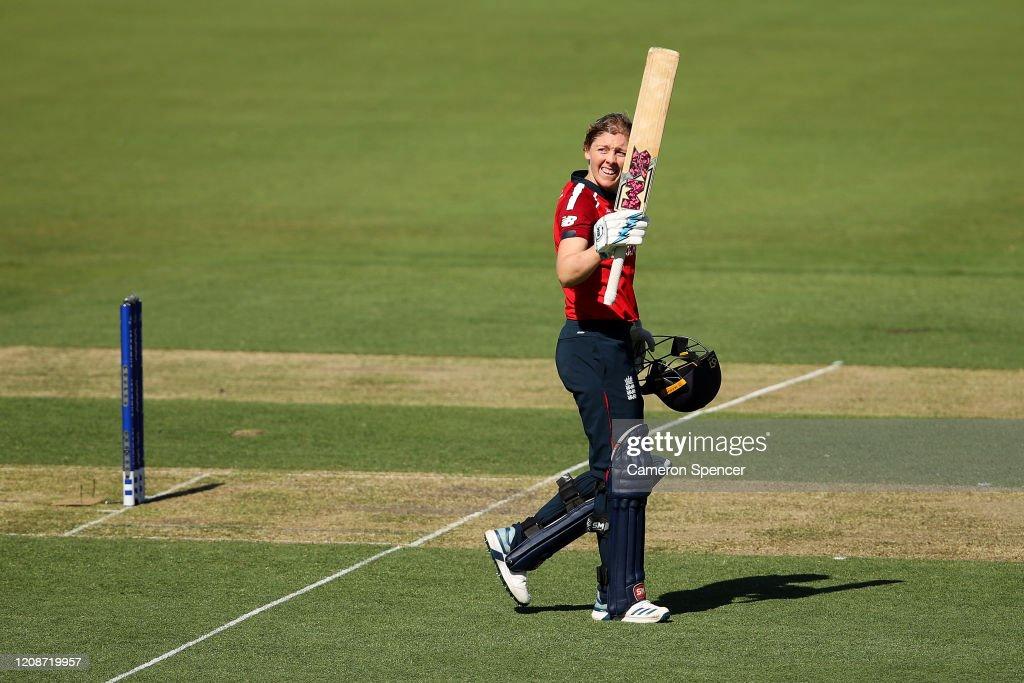 England v Thailand - ICC Women's T20 Cricket World Cup : News Photo