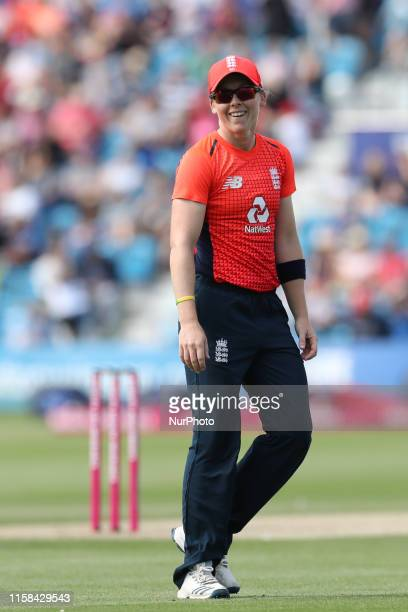 Heather Knight of England during the Ashes match between England and Australia at 1st Central County Ground Hove on Sunday 28th July 2019