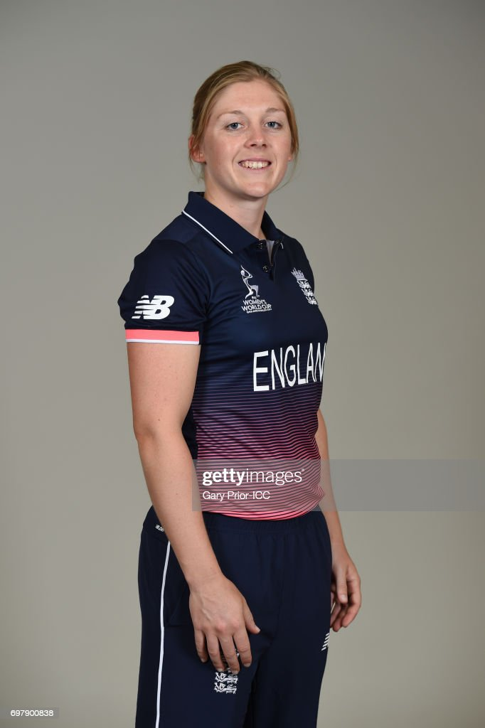 Heather Knight of England on June 18, 2017 in Leicester, England.