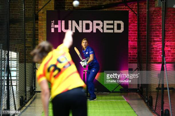 Heather Knight of London Spirit one of the eight new mens and womens teams that will be competing in new 100 ball cricket competition, The Hundred,...
