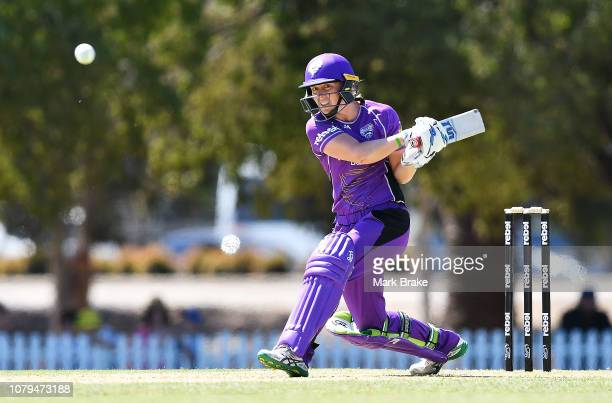 Heather Knight of the Hobart Hurricanes bats during the Adelaide Strikers v Hobart Hurricanes WBBL match at Karen Rolton Oval on January 9 2019 in...