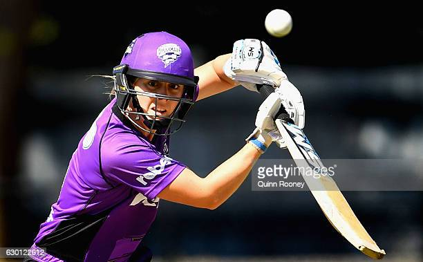 Heather Knight of the Hurricanes bats during the WBBL match between the Renegades and Hurricanes on December 17 2016 in Bendigo Australia