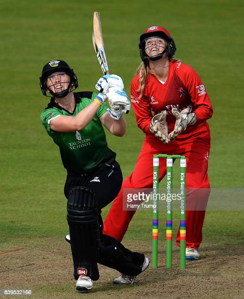 Heather Knight of Western Storm bats during the Kia Super League 2017 match between Western Storm and Lancashire Thunder at the Brightside Ground on...