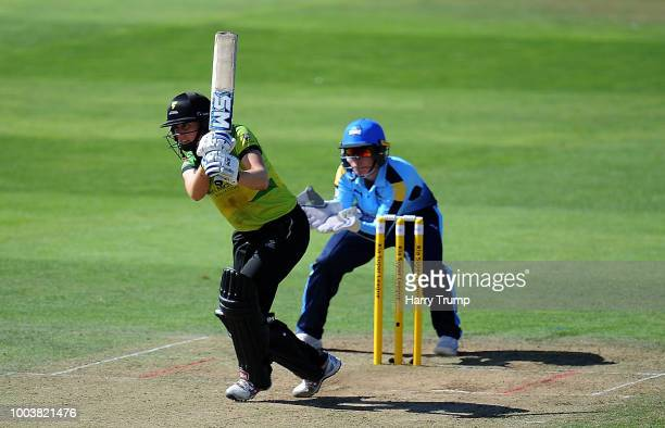 Heather Knight of Western Storm bats during the Kia Super League match between Western Storm and Yorkshire Diamonds at The Cooper Associates County...