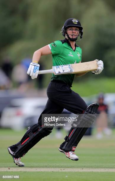 Heather Knight of Western Storm during the Kia Super League between Yorkshire Diamonds v Western Storm at York on August 20 2017 in York England