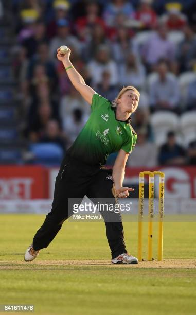 Heather Knight of Western Storm in action during the Women's Kia Super League Final between Southern Vipers and Western Storm at The 1st Central...