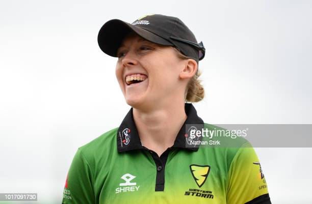 Heather Knight of Western Storm looks on before the toss during the Kia Super League match between Loughborough Lightning and Western Storm at...