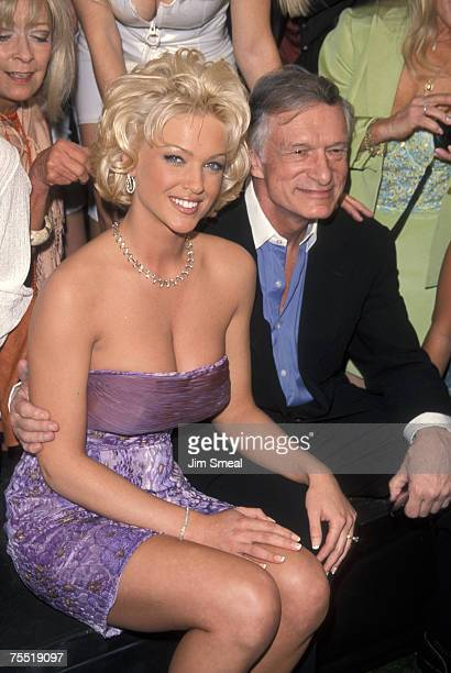 Heather Kozar and Hugh Hefner at the Playboy Mansion in Beverly Hills California