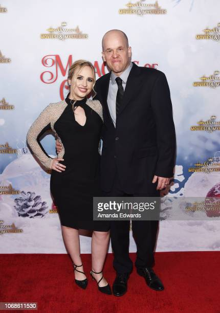 Heather Krueger and Chris Dempsey arrive at the Hallmark Channel 'Once Upon A Christmas Miracle' screening and holiday party at 189 by Dominique...