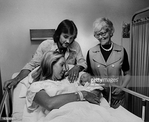 JUN 20 1974 Heather La Grange Is Admired By Central Figures In Her Birth Her father Jack and Mrs Alice Kunz watch as Judy La Grange holds infant