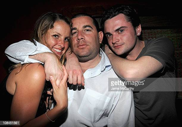 Heather Lang Ron Berkowitz and Robert Iler attends the Opening of Tantra Nightclub Sanctuary in St Maarten on February 72009