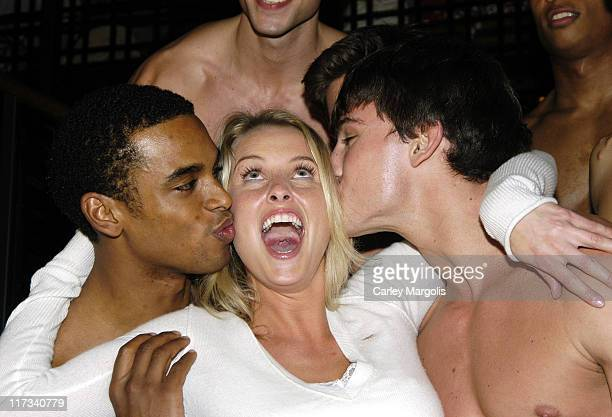 Heather Lang with other Abercrombie Fitch Models