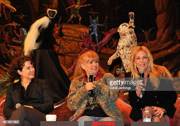 Heather Langenkamp PJ Soles and Patty Mullen on the Death Becomes Her panel at Kirk Von Hammett's Fear FestEvil at Grand Regency Ballroom on February...