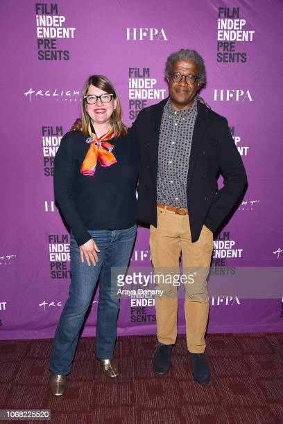 Heather Lenz and Elvis Mitchell attend the Film Independent Special Screening of 'Kusama Infinity' at ArcLight Sherman Oaks on December 3 2018 in...