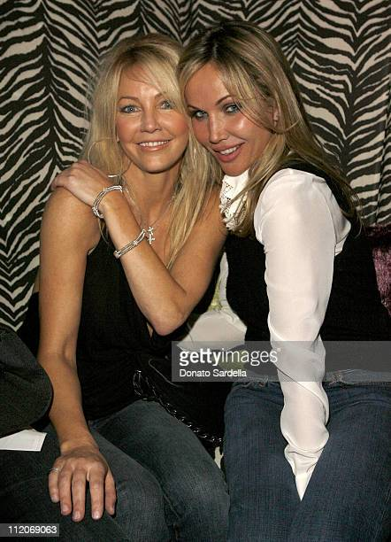 Heather Locklear and Brooke Davenport during Motorola's 8th Anniversary Party Featuring a Performance by Christina Aguilera at Hollywood Palladium in...