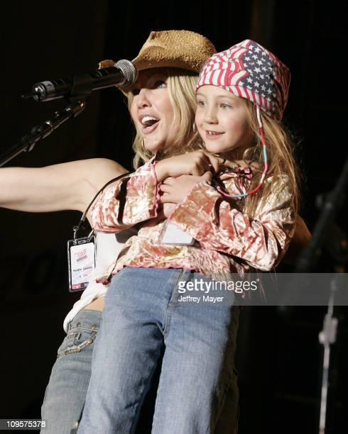 Heather Locklear and daughter Ava during Rockin' the Corps Concert An American Thank You Celebration for US Marines Show at Camp Pendleton in San...