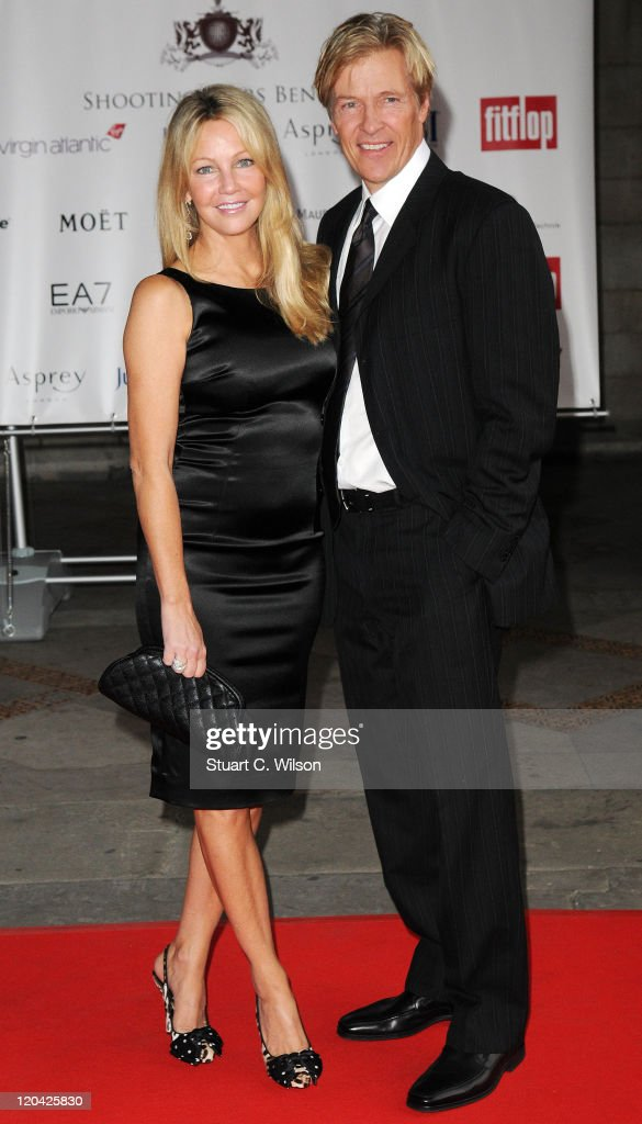 Heather Locklear and Jack Wagner arrive at the FitFlop Shooting Stars Benefit closing ball at the Royal Courts of Justice. The event was hosted by Samuel L Jackson to raise money for Make-A-Wish Foundation UK at Royal Courts of Justice, Strand on August 5, 2011 in London, England.