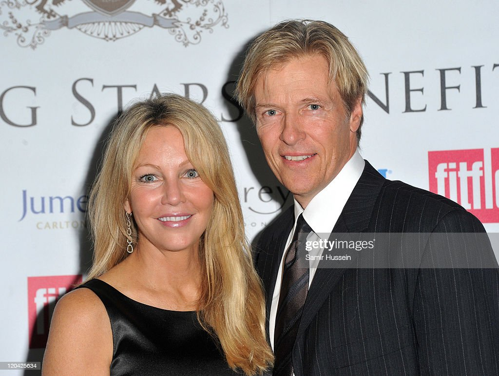 Heather Locklear and Jack Wagner attend the the FitFlop Shooting Stars Benefit Closing Ball following a two-day golf tournament raising vital funds for Make-A-Wish Foundation UK at the Royal Courts of Justice on August 5, 2011 in London, England.
