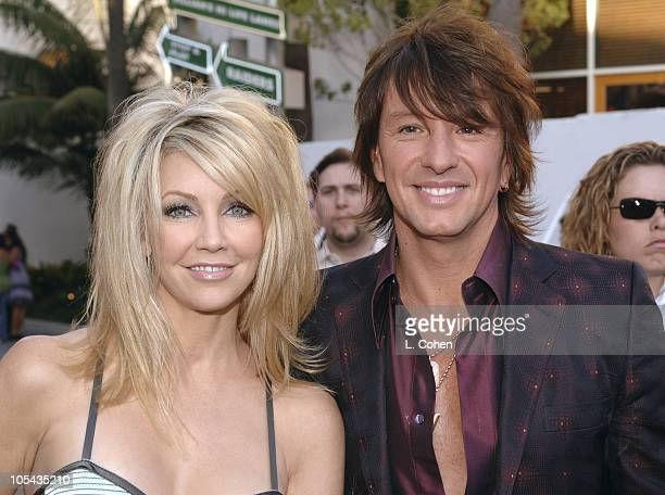 Heather Locklear and Richie Sanbora during The Perfect Man Los Angeles Premiere Red Carpet at Universal Studios Cinema in Universal City California...