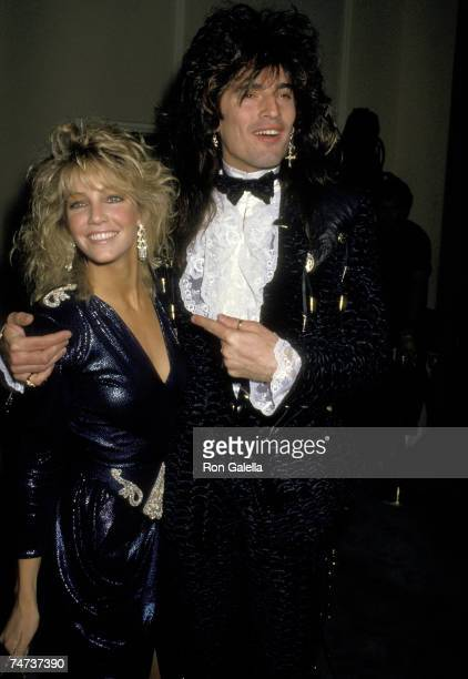 Heather Locklear and Tommy Lee at the Beverly Hilton Hotel in Beverly Hills California