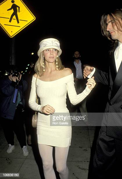 Heather Locklear and Tommy Lee during Heather Locklear and Tommy Lee Sighting at Le Dome Restaurant in Hollywood January 28 1991 at Le Dome...