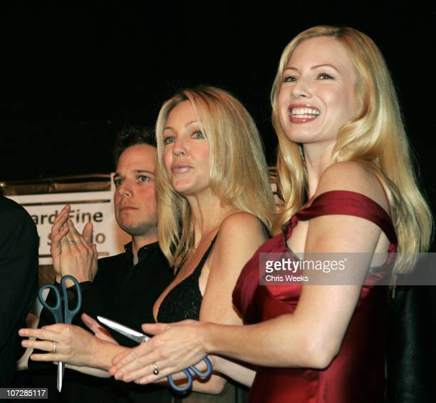 Heather Locklear and Traci Lords during Ribbon Cutting for Howard Fine's Acting Studio in Former Hollywood Playhouse Inside at Howard Fine Acting...