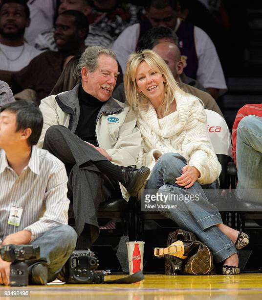 Heather Locklear attends a game between the New Jersey Nets and the Los Angeles Lakers at Staples Center on November 29 2009 in Los Angeles California