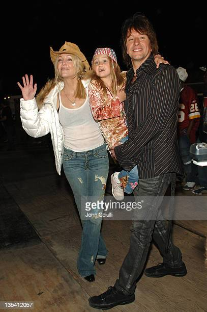 Heather Locklear Richie Sambora and daughter Ava during Rockin' the Corps Concert An American Thank You Celebration for US Marines Arrivals at Camp...