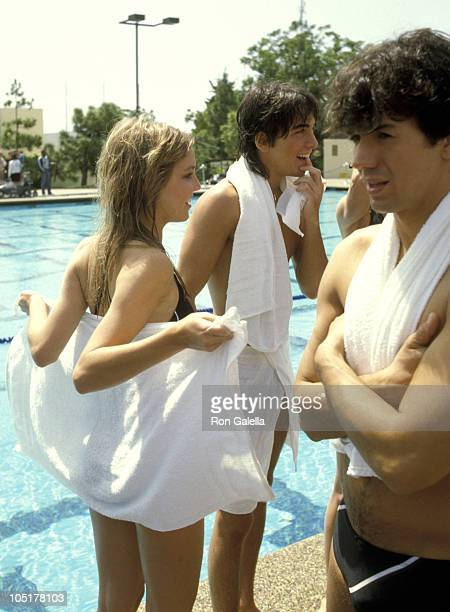 Heather Locklear Scott Baio and Adrian Zmed during Battle of the Network TV Stars at Pepperdine University in Malibu California United States