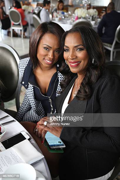 Heather Lowery and Tina Douglas attend MILF Celebration Of Entertainment Mothers on February 6 2015 in Beverly Hills California