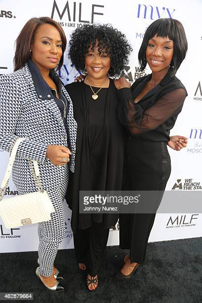 Heather Lowery Sonja Norwood and Brandy attend MILF Celebration Of Entertainment Mothers on February 6 2015 in Beverly Hills California